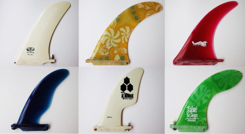 ロングボードのセンターフィン6種類